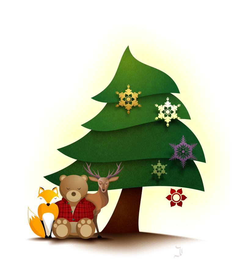 animals-and-tree